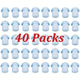 40 X FANVERIM Silicone Replacement Clear Colored Earbud Compatible For Motorola Kenwood Icom Yaesu Baofeng HYT Midland Cobra Two-Way Radio Coil Tube Audio (40 Pack)