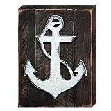 Cheap Designocracy Rustic Anchor Nautical Decor Vintage Board