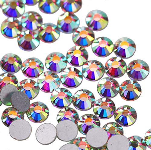 Jollin Glue Fix Crystal AB FlatBack Rhinestones(ss12 1440pcs) ()