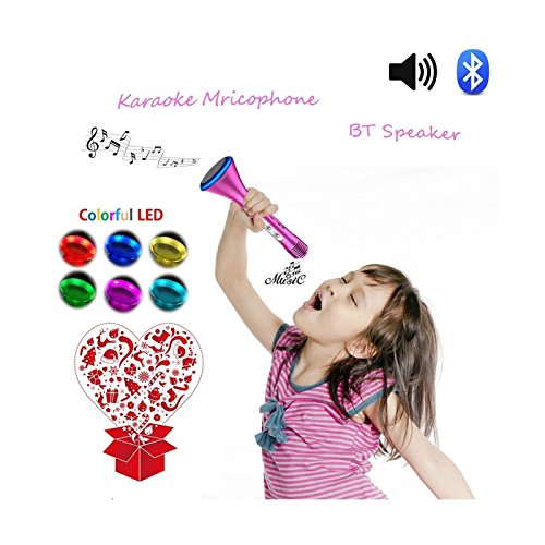 Microphone Karaoke, Portable Wireless Karaoke with Bluetooth Speaker Compatible for iPhone ipad Android Smartphone Or PC, Home KTV Outdoor Party Muisc Suitable for Anytime and Anywhere (Apple Instrument Cable)