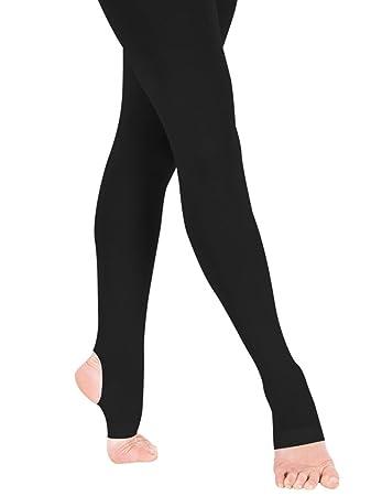 34209f8870a1d Panegy Mädchen Ballettstrumpfhose Ballett Feinstrumpfhose Kinderstrumpfhose  Leggings Tanz Strümpfe-Schwarz