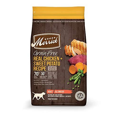 Merrick Grain Free Chicken + Sweet Potato Recipe Dry Dog Food, 4 lbs.