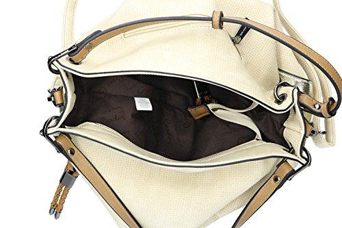 Borsa donna a mano con tracolla PIERRE CARDIN apertura a zip beige VN1827