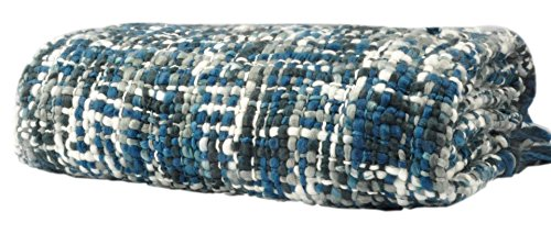 Battilo Cable Knit Throw Blanket Made of Space Dyed, Acrylic Yarn, 60