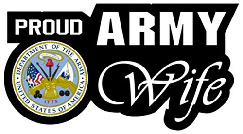 [1 Set Superior Popular Proud Army Wife Sticker Sign Indoor Wall Home Size 6