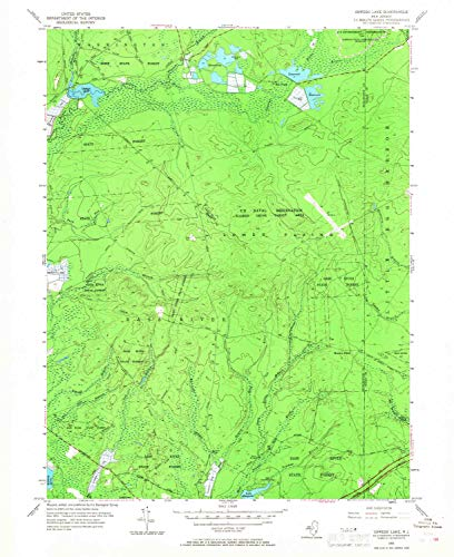 YellowMaps Oswego Lake NJ topo map, 1:24000 Scale, 7.5 X 7.5 Minute, Historical, 1955, Updated 1968, 27 x 22.1 in - Tyvek ()