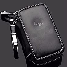 Car Key Chains Wallet Pouch Customer Made Logo Leather Key Case Holder For Men and Women