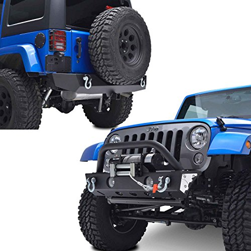E-Autogrilles-07-17-Jeep-Wrangler-JK-Rock-Crawler-Front-Bumper-with-OE-Fog-Light-Housing-Winch-Plate-and-Rear-Bumper-with-2-Hitch-Receiver-Combo-51-035051-0310
