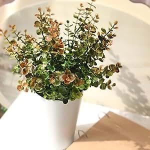 Long dream 15 7 coloures artificiales de madera de for Plantas decorativas para el hogar