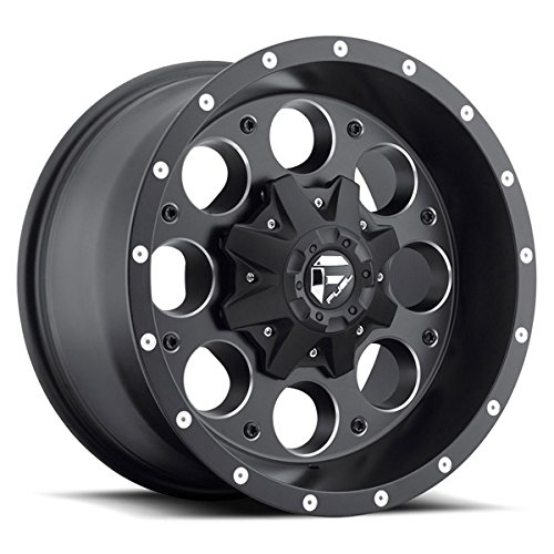8' Revolver (Fuel Offroad Revolver Black Wheel (16x8''/6x5.5inches , + 01mm Offset))