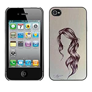 PC/Aluminum Funda Carcasa protectora para Apple Iphone 4 / 4S hair style / JUSTGO PHONE PROTECTOR