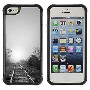 LASTONE PHONE CASE / Suave Silicona Caso Carcasa de Caucho Funda para Apple Iphone 5 / 5S / Nature Beautiful Forrest Green 119