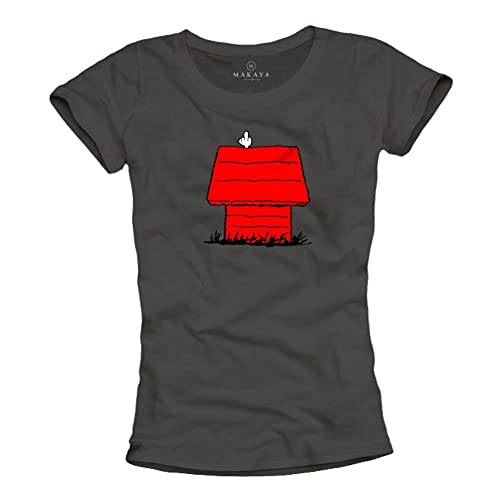 magliette donne con stampe divertenti – SNOOP DOG – t-shirt con il cane