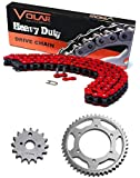 90-97 Honda FourTrax 200 TRX200 / Type II Chain and Sprocket Kit Heavy Duty Red