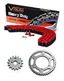 #3: 1986-1993 Suzuki Quadrunner 230 LT230E Chain and Sprocket Kit - Heavy Duty Red