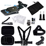 GBB Basic Outdoor Sport DV Accessories Kit Camcorder Sets for GoPro Hero4 Session Hero1 2 3 3+ Xiaoyi Yi Climbing Bicycling Swimming Rowing Ski (21 items)