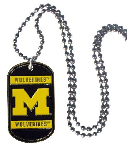 Simran NCAA Michigan Wolverines Dog Tag Necklace