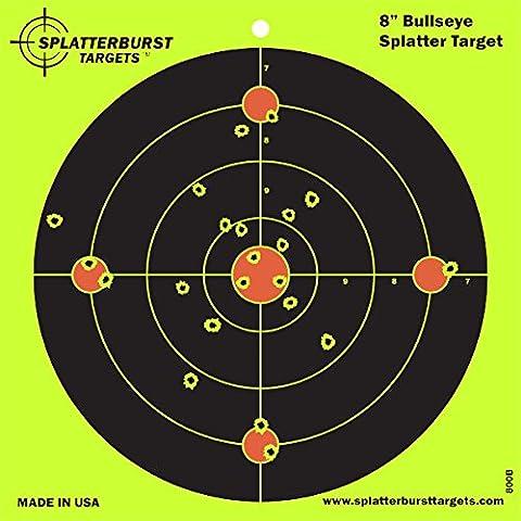 Splatterburst Targets 8 Inch Bullseye Splatterburst Shooting Targets, Pack of (Bb Gun Target)