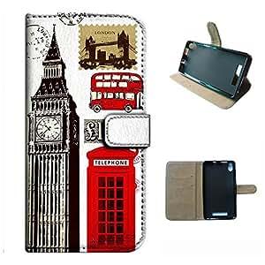 Energy X Plus/E030L case, SoloShow(R) BLU Energy X Plus/E030L 5.0 inch case Deluxe High Quality PU Leather Wallet Flip case, Big Ben British flag Pattern (Phone Booth)
