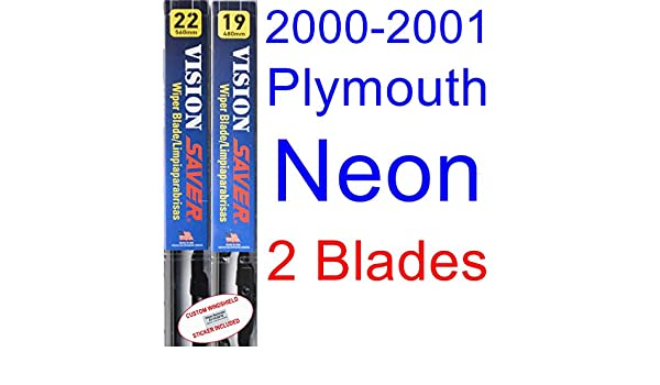 Amazon.com: 2000-2001 Plymouth Neon Replacement Wiper Blade Set/Kit (Set of 2 Blades) (Saver Automotive Products-Vision Saver): Automotive