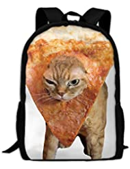 Pizza Space Cat Luxury Print Men And Womens Travel Knapsack