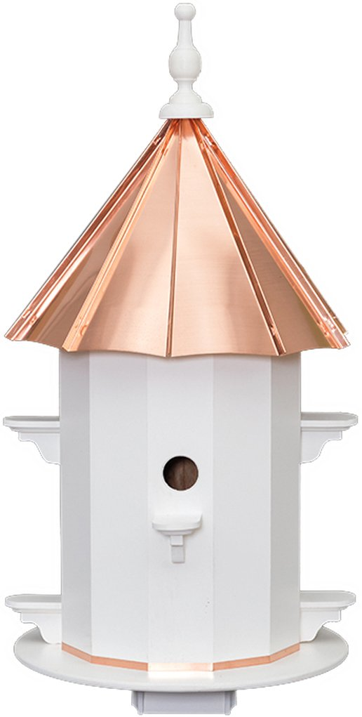 6 Hole Vinyl Finch Birdhouse