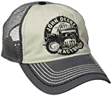 John Deere 'Quality Tractors' Logo Mesh Back Baseball Hat - One-Size - Men's - Yellow, One Size