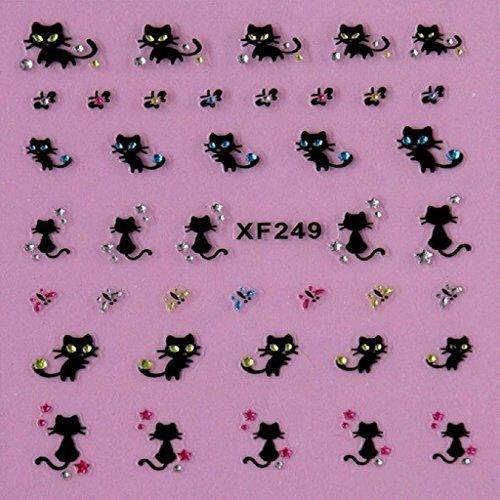 tenworld-1-sheet-nail-art-stickers-decals-nail-decoration-diamond-kitty-cat-butterfly-nail-art-tips