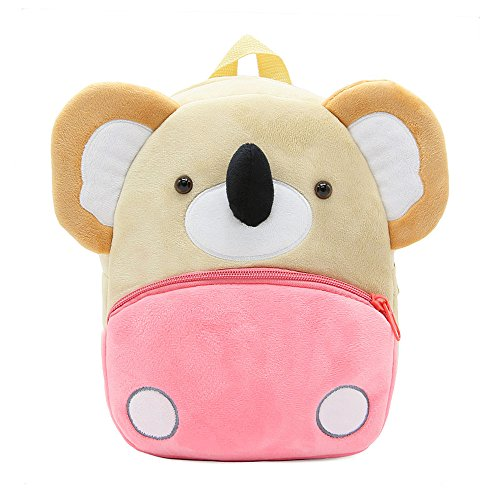 White Dolphin Cute Toddler Backpack,Cartoon Cute Animal Plush Backpack Toddler Mini School Bag for Kids Age 1-5 Years Old (koala), Small