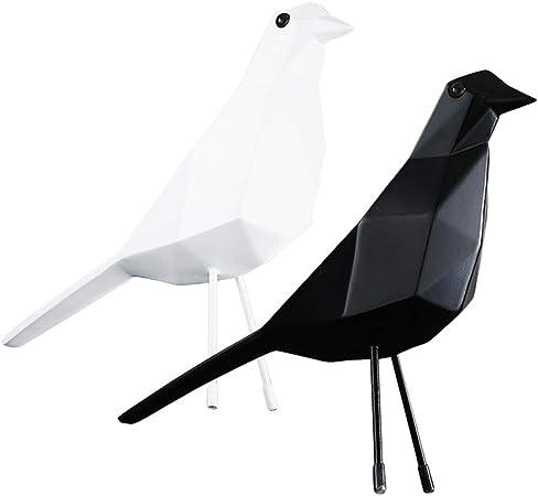 Simulation Vivid Yellow Bird Sculpture Geometric Origami Tabletop Ornament