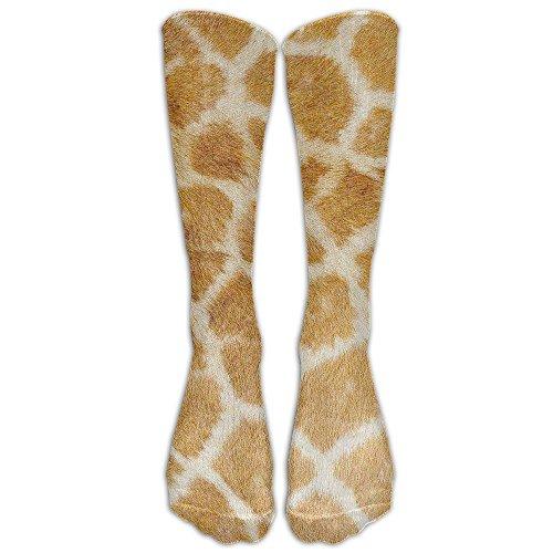 Leopard Fur Women's Novelty Soft Cotton-nylon Blends Tube Knee High Socks, Sport Calf Women Running Socks For Cosplay, Halloween, Party, Daily Wear,Christmas, New Year ()
