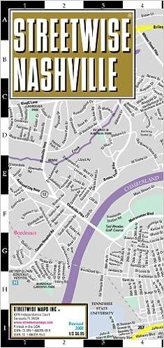 Laminated Center City Street Map of Nashville Tennessee Streetwise Nashville Map