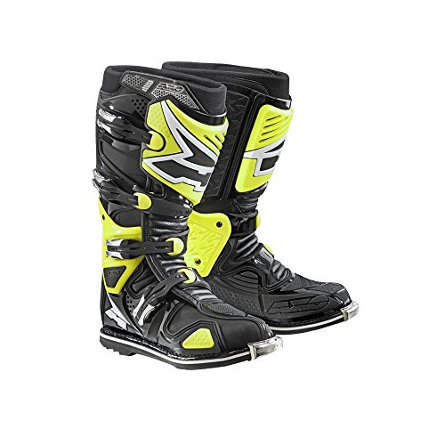 Thor Boots (AXO A2 Boots (Black/Fluorescent-Yellow, Size 10.5))