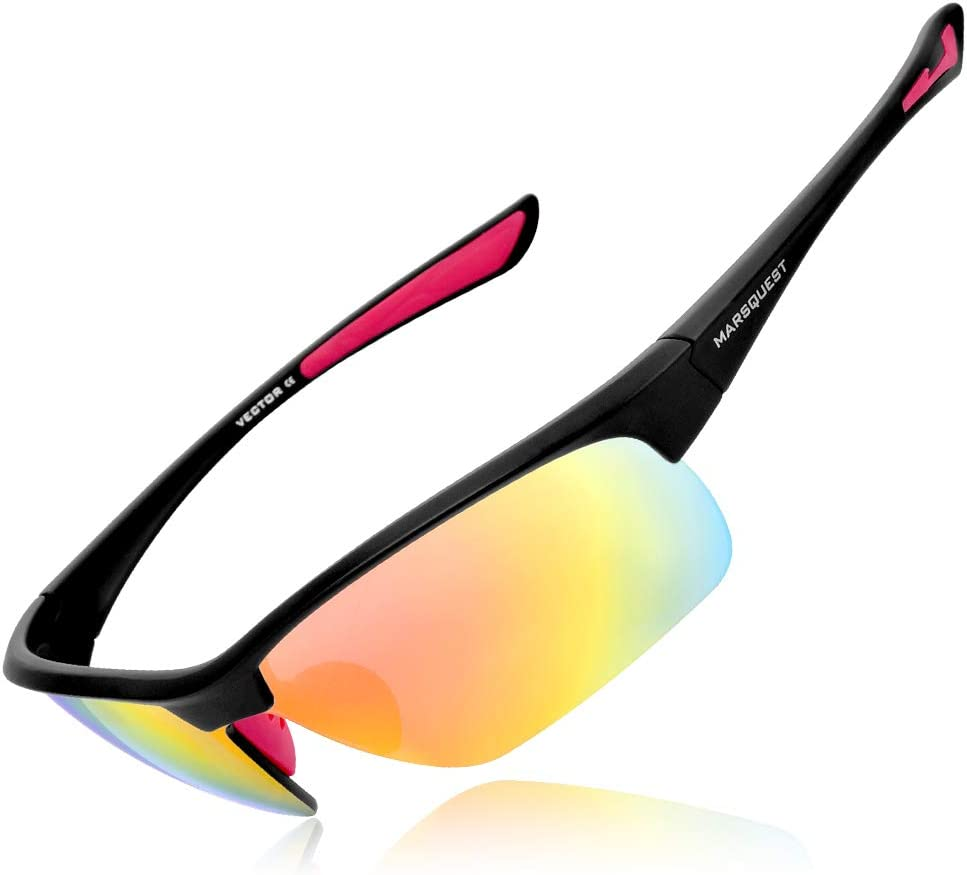 Sport Sunglasses, Cycling Glasses for Men Women, Bulletproof for Fishing Running