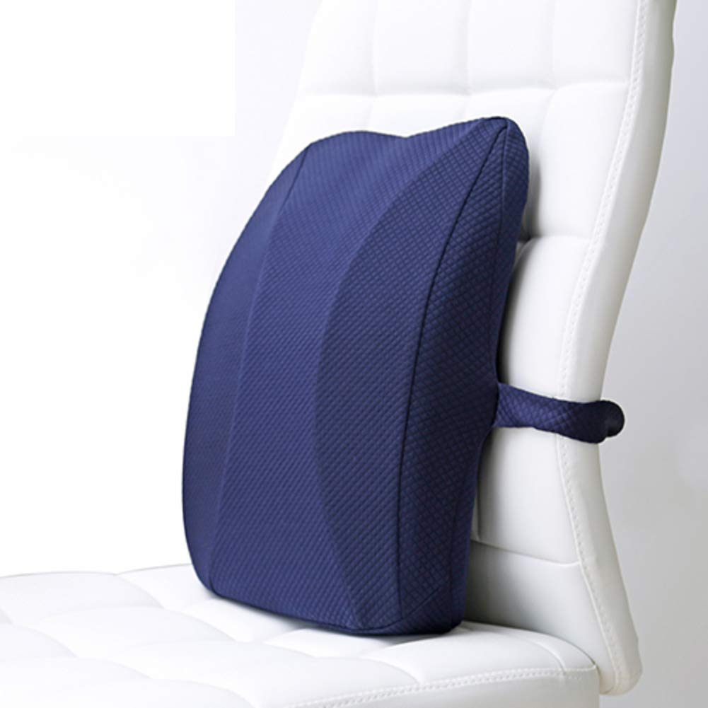 XJ&DD Office Lumbar Support pad,Waist Pillow,Car seat Cushion,Premium Memory foamfor Home Computer Games Travel Student-A 35x42cm(14x17inch)