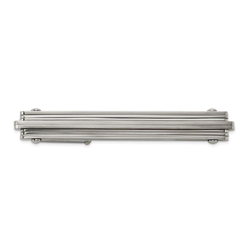 Stainless Steel Brushed and Polished Tie Bar