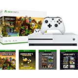 Microsoft Xbox One S 1TB Minecraft Creators Bundle with 4K Ultra HD Blu-ray | Xbox One S 1TB Storage Console | Wireless Controller | Minecraft Game | Optional Customize Minecraft Creeper Controller
