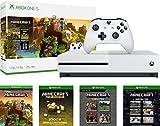 Microsoft Xbox One S 1TB Minecraft Creators Bundle with Minecraft Creeper Wireless Controller | 4K Ultra HD Blu-ray | Xbox One S 1TB Storage Console | Wireless Controller | Minecraft Game
