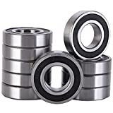 XiKe 10 Pack 6206-2RS Bearings 30x62x16mm, Stable Performance and Cost-Effective, Double Seal and Pre-Lubricated, Deep Groove Ball Bearings.