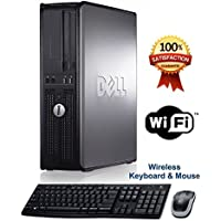 Dell Optiplex Desktop Computer 2.3GHz Intel Core 2 Duo PC, 4GB, 160HDD, Windows 10 Home 64 bits,WIRELESS Mouse & Keyboard, WIFI (Certified Refurbished)