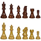Ravilla High Polymer Weighted Chess Pieces with Extra Queens – Pieces Only – No Board – 3.75 Inch King