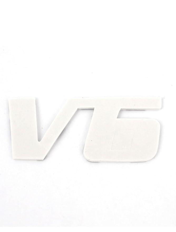 Sourcingmap Insignia Parrilla Decoraci/ón para Veh/ículo Logo V6 Cromada Emblema