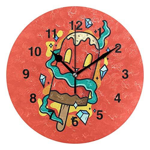 New School Owl Tattoo - Jojogood New Skool Tattoo Wall Clock