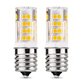 Albrillo E17 LED Bulb 4W, Microwave Light Appliance, Oven Bulbs, 40 Watt Equivalent, Warm White 3000K, 2 Pack