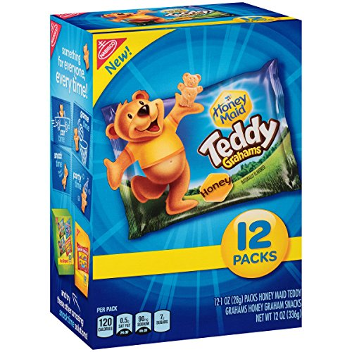 Teddy Graham Crackers (Honey, 1-Ounce Bags, 12 Count)