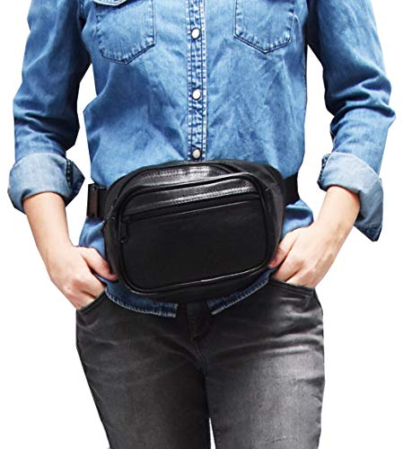Garrison Grip Concealed Carry 3 Compartment Durable Black Canvas Waist Fanny Pack for Large Gun Like 1911 and Hi-Point (6502) FP-1 ()