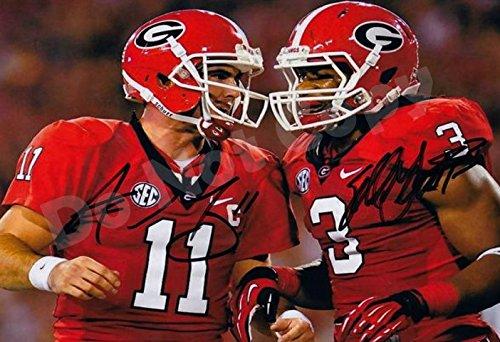 Aaron Murray and Todd Gurley Autograph Replica Poster - Georgia Bulldogs