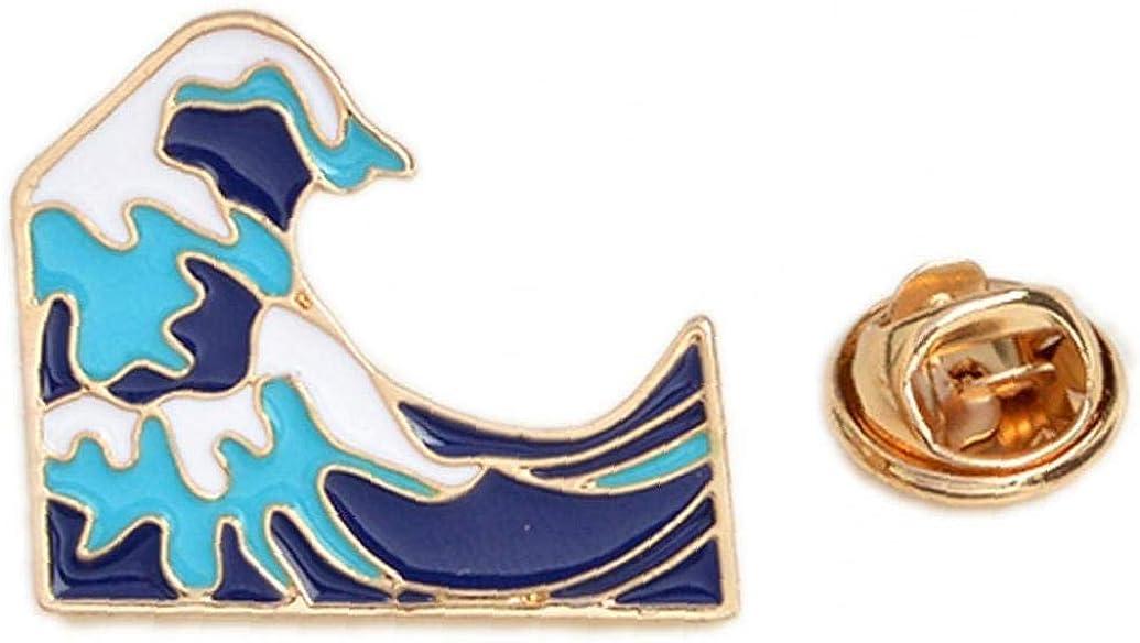 Oc/éan V/êtements Vague Brooches Sac /à Dos Badge Tissu Accessoires Pins