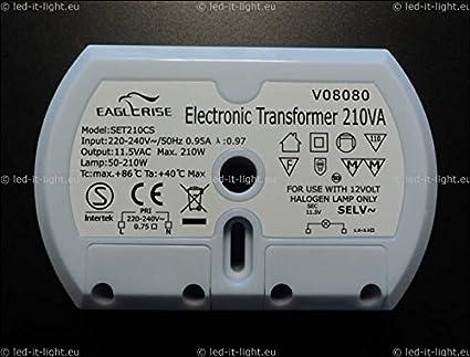 Trafo baugleich mit HUIBOLONG HTV210C1 Halbrund 50-210 Watt Rund █► Elektr