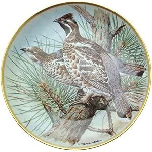 Limoges Gamebirds of the World Ptarmigan Plate Basil Ede Bird Plate